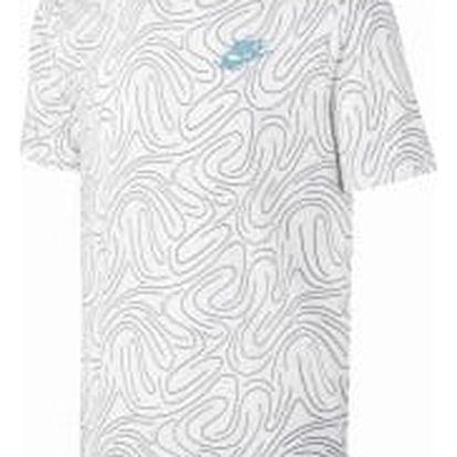 Pánské tričko Nike M NSW TEE SWSH PLS AOP L WHITE/SQUADRON BLUE/WHITE/VIVI