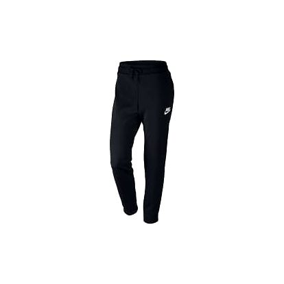 Dámské tepláky Nike W NSW AV15 PANT FLC M BLACK/WHITE