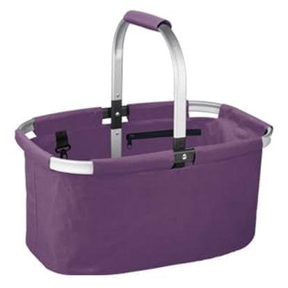 Nákupní košík skládací SHOP!, barevný mix, fialová
