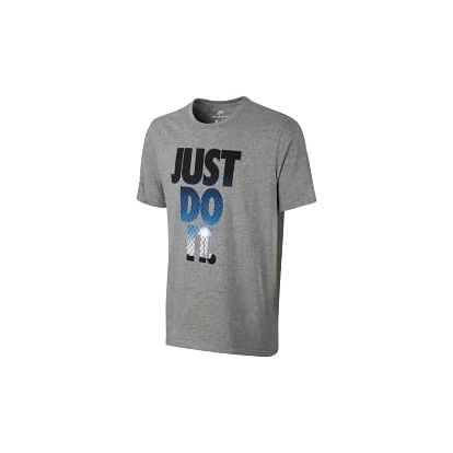Pánské tričko Nike M NSW TEE JDI PHOTO XL DK GREY HEATHER/PHOTO BLUE