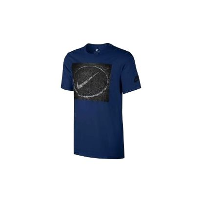 Pánské tričko Nike M NSW TEE ASPHALT PHOTO L BINARY BLUE