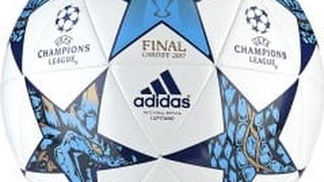 Fotbalový míč adidas FINALE CDF CAP 5 WHITE/MYSBLU/CYAN