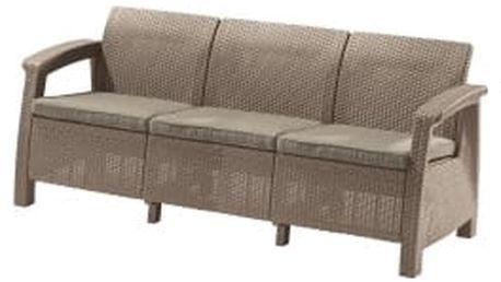 CORFU LOVE SEAT MAX cappucino + pískové podušky zahradní sofa