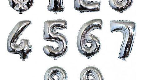 Lesklé nafukovací balonky na oslavy a párty ve tvaru čísel