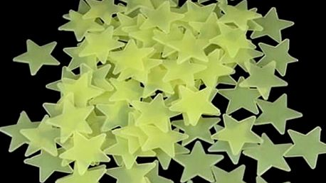 Svítící hvězdičky na zeď sada 100 ks