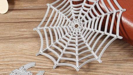 Kovová šablona k tvoření - Pavučinka s pavoučkem