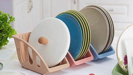 Skladovací stojánek na talíře a pokličky - 4 barvy