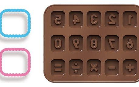 Tescoma Formičky na čokoládu s vykrajovátky DELÍCIA KIDS, číslice