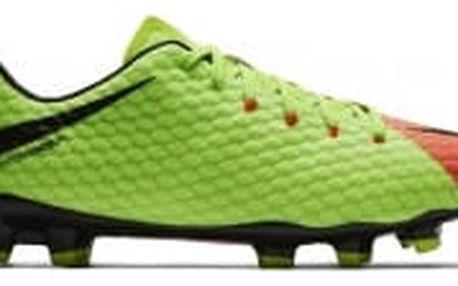 Pánské kopačky Nike HYPERVENOM PHELON III FG 45 ELECTRIC GREEN/BLACK-HYPER ORA