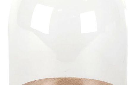 Skleněný poklop s podnosem ComingB Cloche, 15 cm