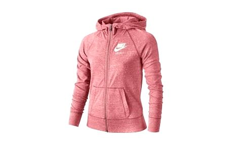 Dětská mikina Nike G NSW VNTG HOODIE FZ S BRIGHT MELON/SAIL/SAIL