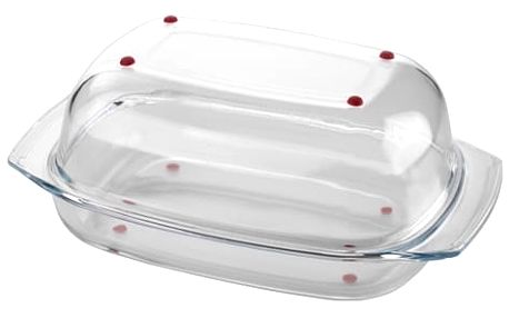 Pekáč s poklopem DELÍCIA GLASS 42 cm