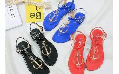 Sandálky s kotvičkou - 3 barvy