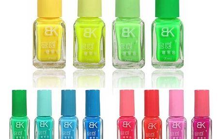 Fluorescenční lak na nehty - různé barvy