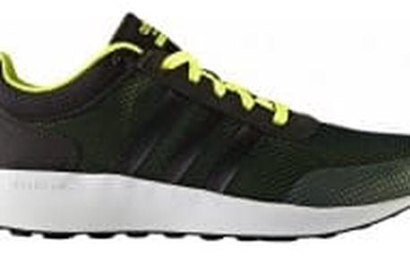 Pánské běžecké boty adidas CLOUDFOAM RACE 46 CBLACK/CBLACK/SYELLO