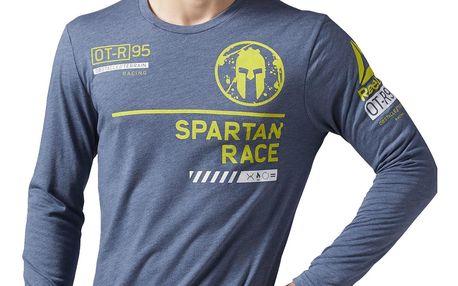 Pánské běžecké tričko Reebok Spartan Race LS Tri Blend Spartan Branded Tee M