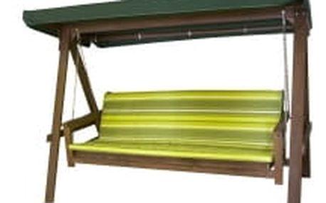 ADELAIDA zelená dřevěná houpačka