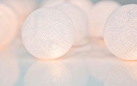 Svítící řetěz Irislights Pure White, 10 světýlek