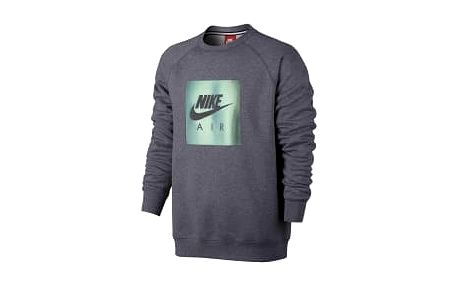Pánská mikina Nike M NSW CRW FLC AIR HRTG | 832162-091 | Šedá | L