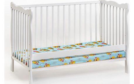 Dětská postýlka s matrací ALA, bílá