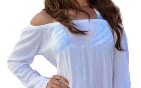 Módní bílá tunika. Tunika je kousek z dámské módy, který rozhodně nesmí chybět v žádném šatníku.