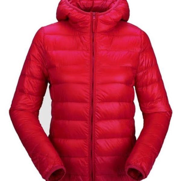 Dámská ultratenká teplá bunda s kapucí - 13 barevných variant