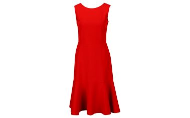 Červené šaty s volánem Closet