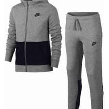 Dětská souprava Nike B NSW TRK SUIT BF L DK GREY HEATHER/BLACK/BLACK