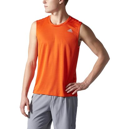adidas Response Sleeveless Tee Men L