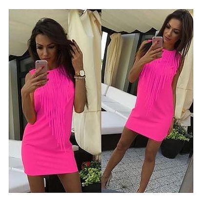 Výrazné letní šaty s třásněmi - 3 barvy