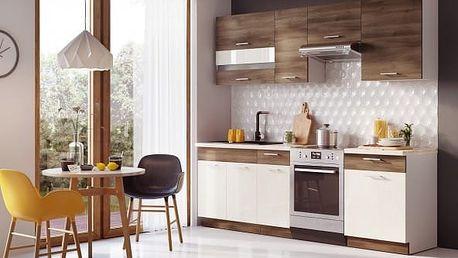 Mia - Kuchyňský blok 180/240cm, bez PD (akát/vanilka)