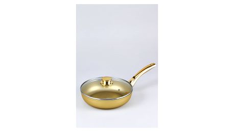 Pánev s pokličkou Bisetti Stonegold Gold Handle, 6,3x2,4 cm - doprava zdarma!