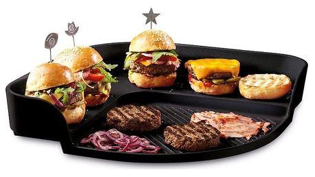 Tác na burgery Emile Henry, černý - doprava zdarma!
