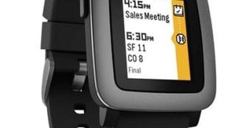 Chytré hodinky Pebble Time Smartwatch (501-00020) černá