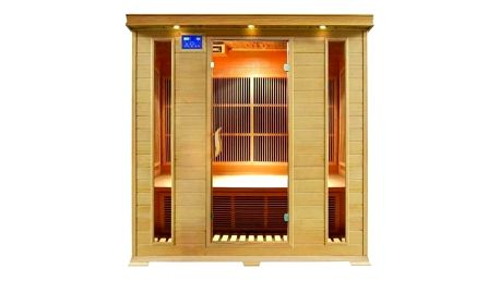 Infra sauna HealthLand DeLUXE 4004 CARBON + Doprava zdarma