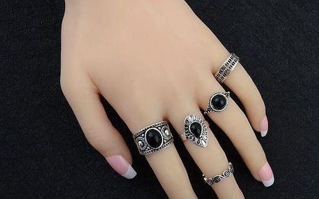 Vintage prstýnky 5 kusů