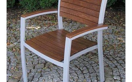 Židle zahradní Rojaplast Istria hnědý + Doprava zdarma