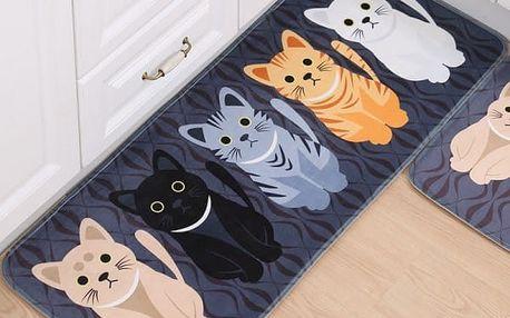 Koberečková předložka s kočičkami - 3 rozměry