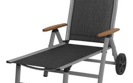 Lehátko Rojaplast Ass Comfort černé/stříbrné + Doprava zdarma