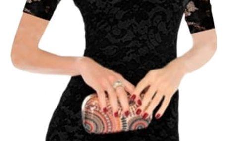 Krajkové sexy šaty - černá a bílá barva