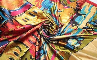 Pestrobarevný šátek - mix vzorů