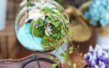 Závěsná skleněná koule - skvělá dekorace do interiéru