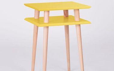 Konferenční stolek UFO Square Yellow, 43cm (šířka) a 61cm (výška) - doprava zdarma!