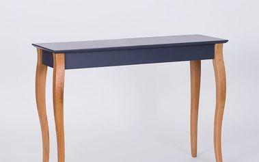 Grafitově šedý odkládací stolek Ragaba Console,délka105cm - doprava zdarma!