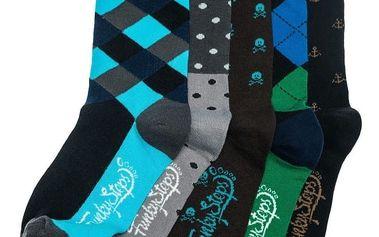Pět párů ponožek Funky Steps Lolo, unisex velikost