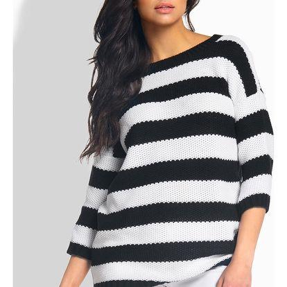 Černo-bílý pulovr L183