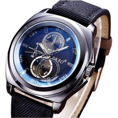 Luxusní pánské hodinky s tmavým páskem