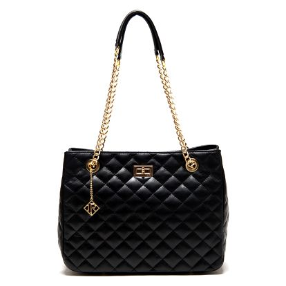 Černá kožená kabelka Isabella Rhea Vanessa - doprava zdarma!