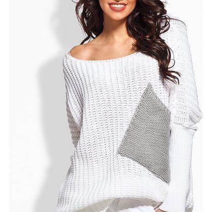 Bílý svetr LS166