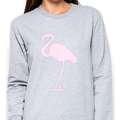 Šedý pulovr K417